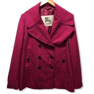 {Burberry} Wool Cashmere Luxurious Peacoat